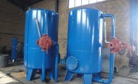 Resin water hardener
