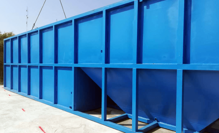 Design of sanitary wastewater treatment package
