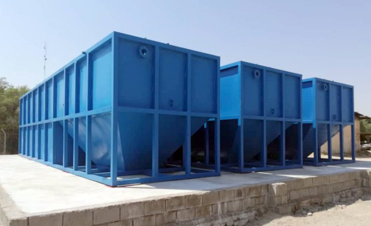 Sanitary wastewater treatment package